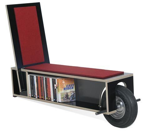 Rolling Bookshelf Seating   The Bookinist And Easy Reader Are A  Book Loverâu20ac™s Best Friend. These Unusual Seats Not Only Store Your  Favorite Reads, ...