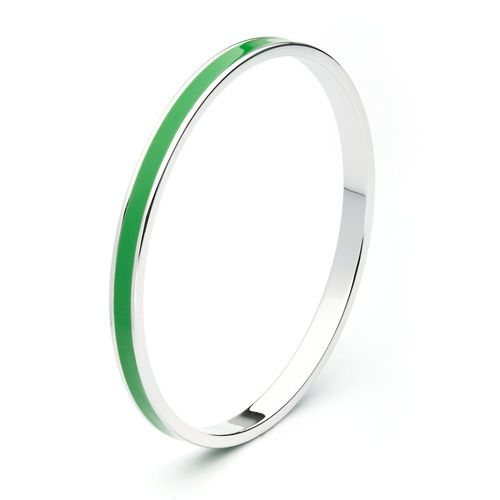 Forest Green Enamel Petite Candy Bangle