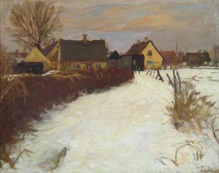 Parti fra Sundby, 1909. Maleri af Sally Philipsen.