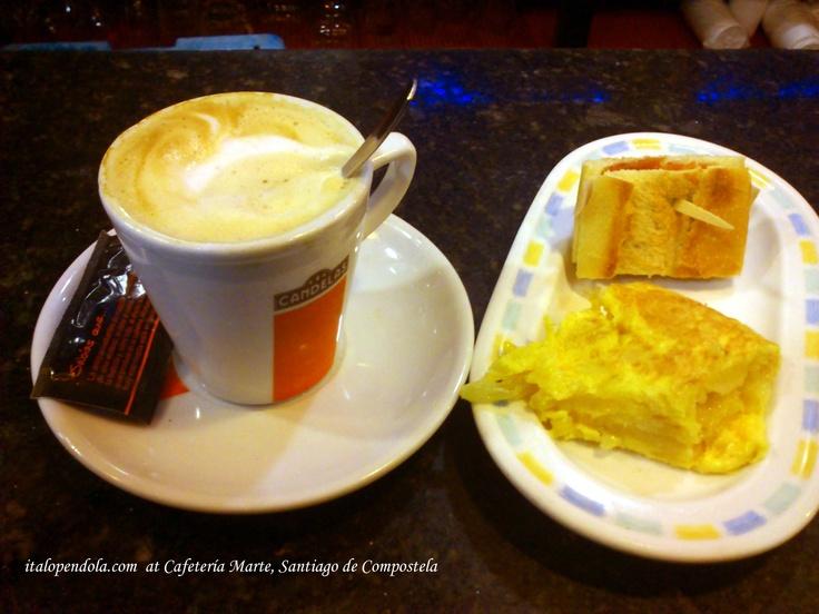 Breakfast at Cafeteria Marte in Santiago de Compostela