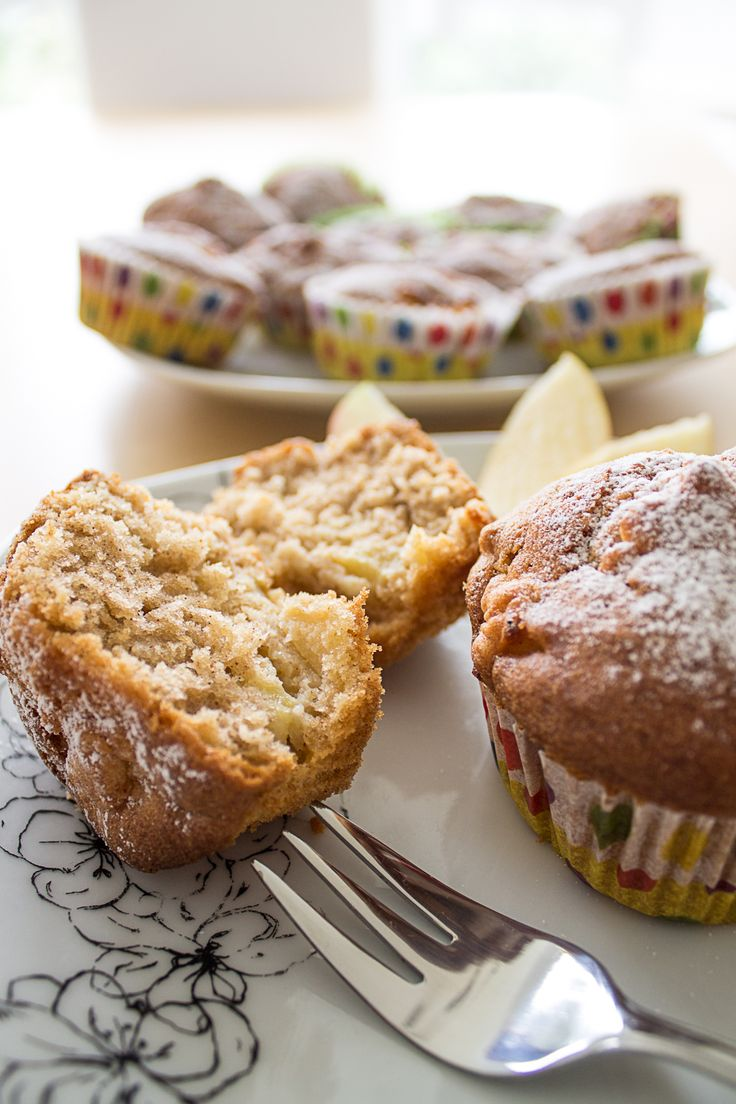 Saftige Apfel-Zimt Muffins (Geburtstagsmuffins für den Kuchenbäcker)   Stadt-Land-Food