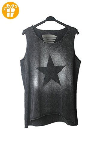 Damen Sexy Straße Punk Hippie T-Shirt Weste Tanktop Damenbluse Tops Ärmellos Einmalig (*Partner-Link)