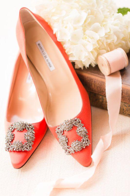 Manolo Blahnik Rust Orange Wedding Shoes | Photo By Idalia Photography
