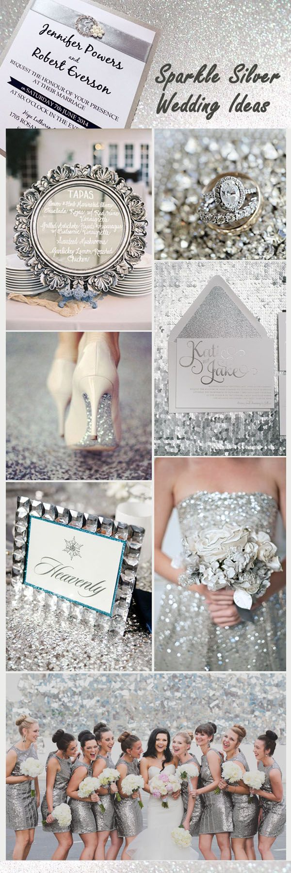 sparkle silver sequin sparkle wedding ideas and invitations