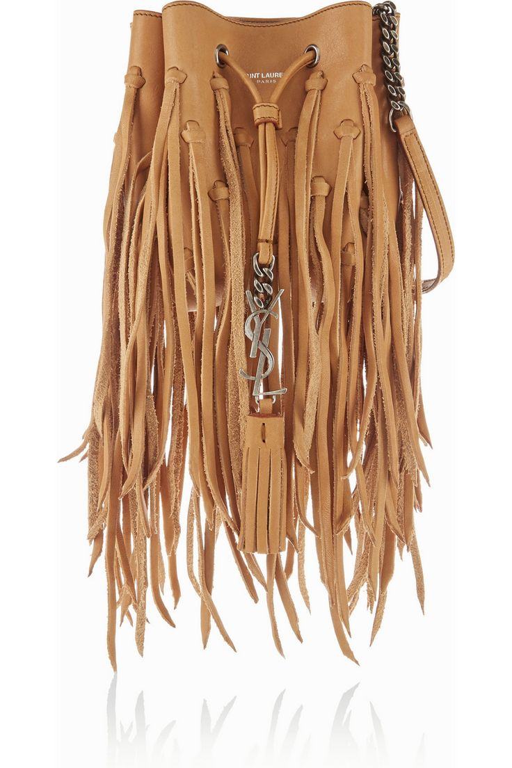 yves saint laurent monogram small fringed suede cross-body bag
