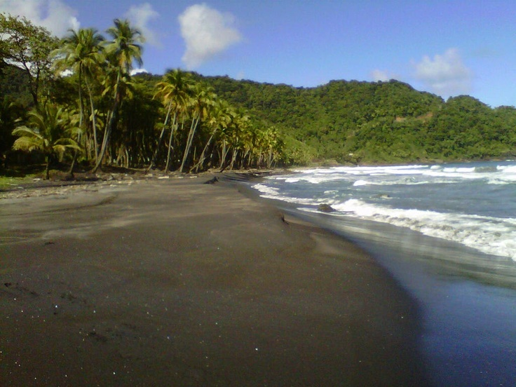 14 best scenic dominica images on pinterest caribbean for Black sand beach caribbean