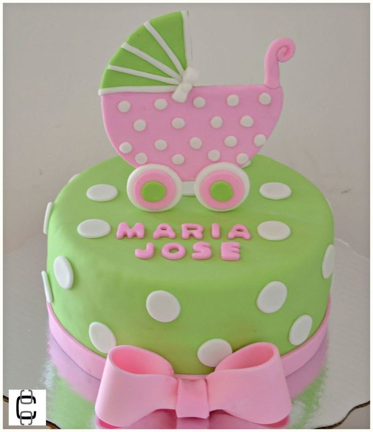 Girl Baby Shower Party Ideas / Girl Baby Shower Cake Ideas / Baby Carriage  Cake /