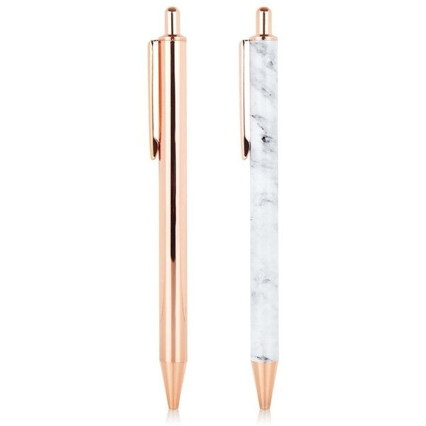 Rose Gold Pen Pack ($13) ❤ liked on Polyvore featuring home, home decor, office accessories, black ink pen, rose gold pen, rose gold ballpoint pen, rose gold office accessories and writing pens