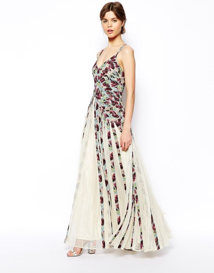 Plum floral maxi dress asos wedding for Floral dresses for wedding guests