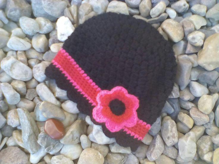 Crochet hat, flower