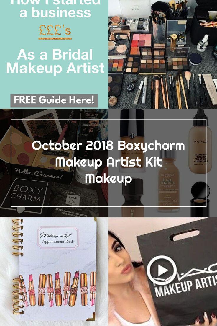 October 2018 Boxycharm Makeup Artist Kit Makeup in 2020