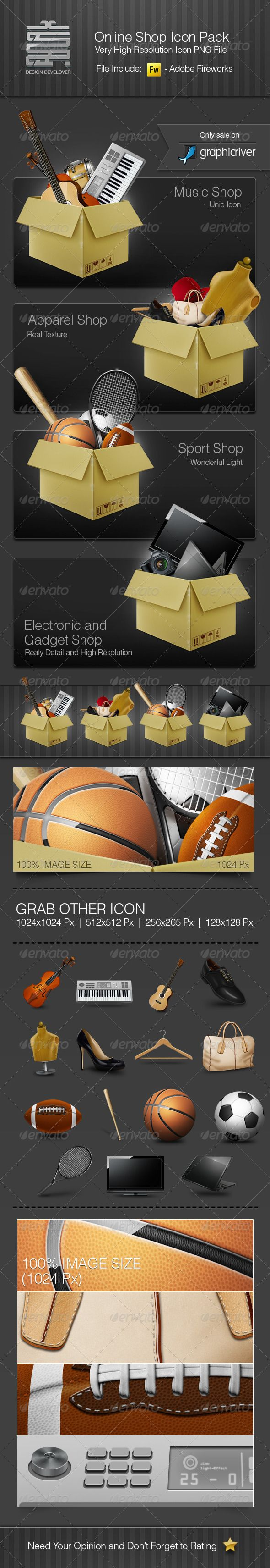 Online Shop Icon Package