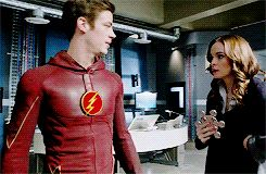 """Barry and Caitlin, I love that him speeding off with her has become this natural of a thing for them, like """"Hop on"""""""