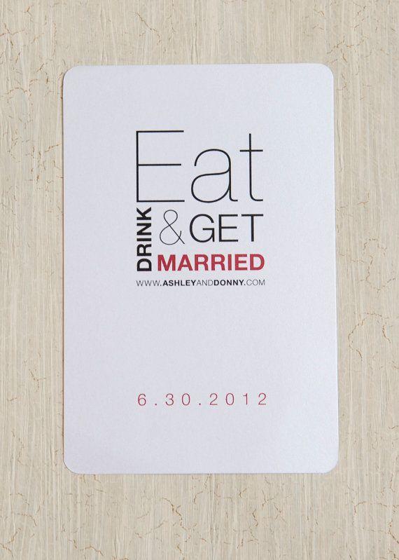 Eat Drink & Be Married Wedding Shower by kpstudiosdesigns on Etsy, $62.50