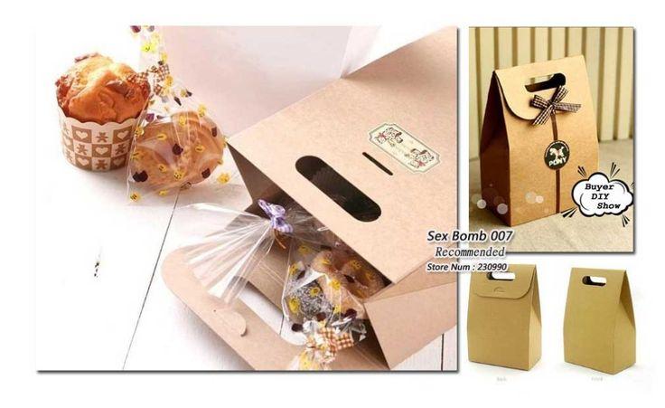 Ingrosso 50 PC/lotto 15.5cm* 10cm* 6cm maniglia sacchetto di carta a buon mercato imballaggio alimentare kraft sacchetto di carta del mestiere spedizione gratuita sacchetto