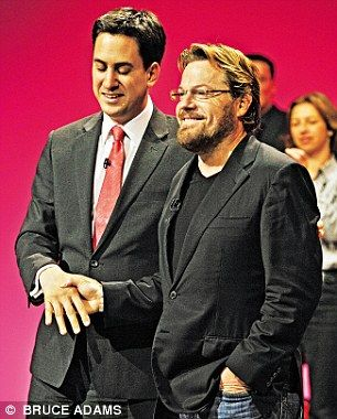 Eddie with Ed Miliband at the 2010 Labour Party Conference