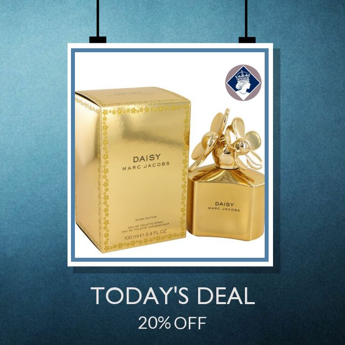 Today Only! 20% OFF this item.  Follow us on Pinterest to be the first to see our exciting Daily Deals. Today's Product: Marc Jacobs Daisy Shine Gold 100ml/3.4oz Eau De Toilette Perfume Spray for Women Buy now: http://perfumebrands.net/products/marc-jacobs-daisy-shine-gold-100ml-3-4oz-eau-de-toilette-perfume-spray-for-women?utm_source=Pinterest&utm_medium=Orangetwig_Marketing&utm_campaign=Only%20Today%20...%20Special%20Price%20for%20a%20special%20person #fashion #perfume #smellgood…