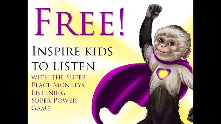 *SUPERPOWER LISTENING* Game from Super Peace Monkeys (Prevent Teacher Bu...