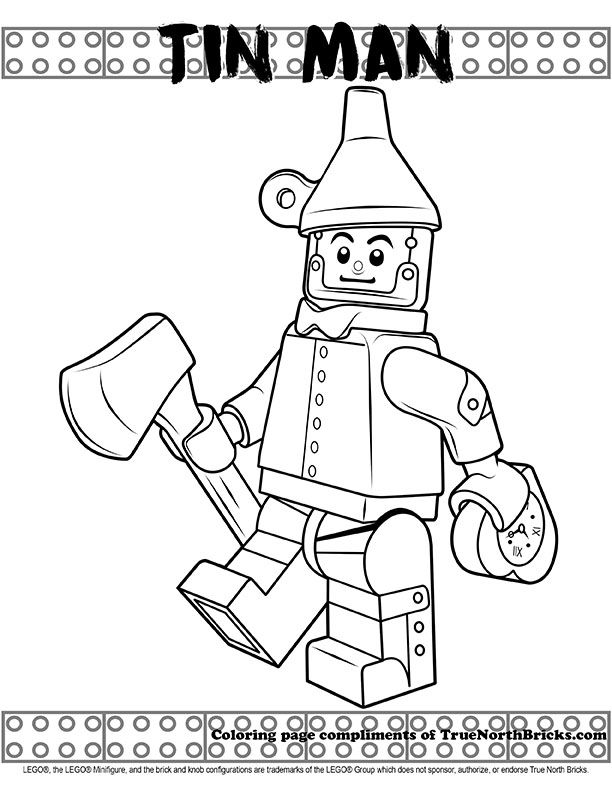 Coloring Page Tin Man Lego Coloring Pages Lego Movie Coloring