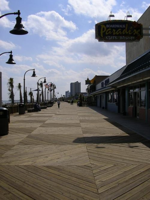 Myrtle Beach Boardwalk. Would love to walk and window shop through the Boardwalk now.