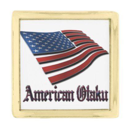 All American Otaku Gold Finish Lapel Pin  $20.00  by Otaku_University  - custom gift idea