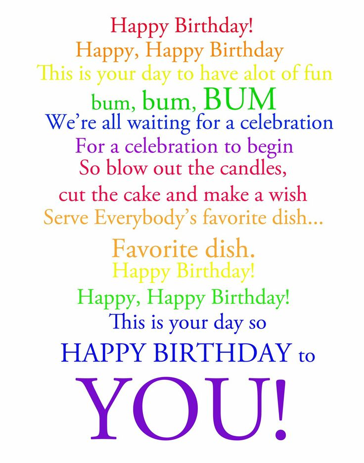 Happy Birthday Song Lyrics | My Blog