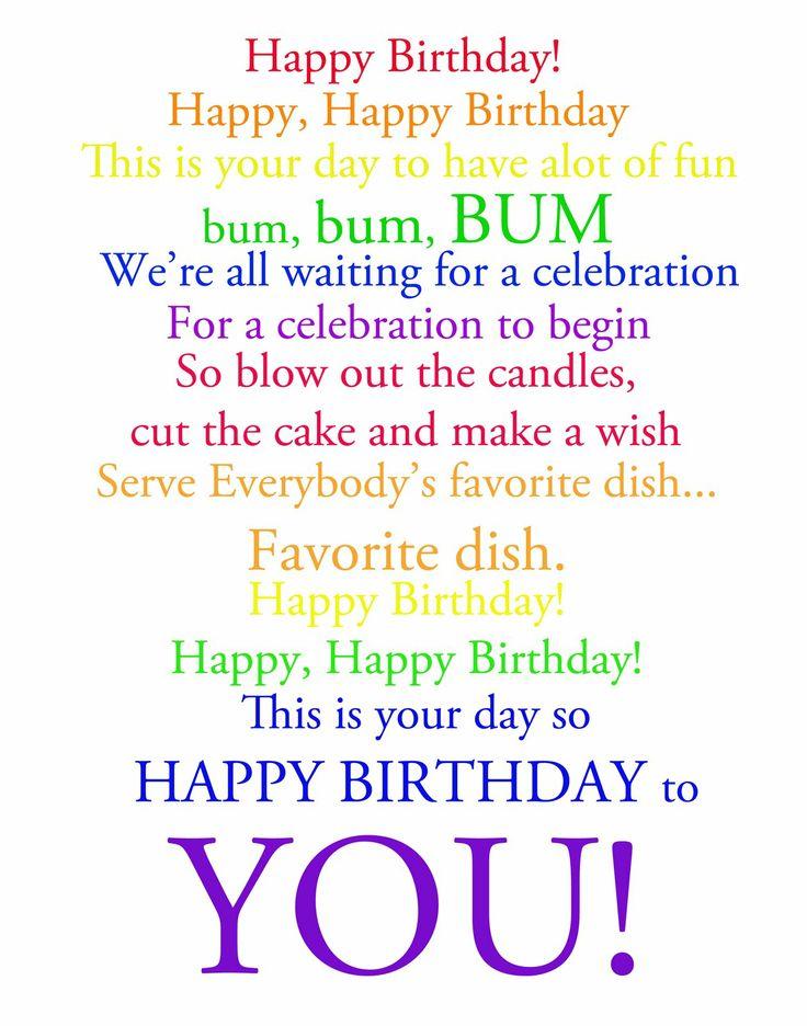 Lyric birthday song lyrics : Happy Happy Birthday Song | My blog