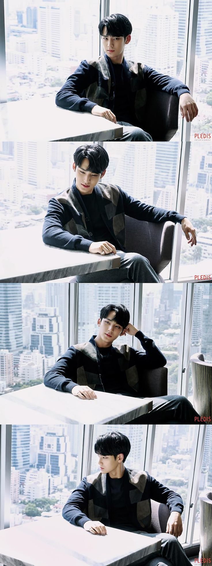 "The young Ceo of his dad's company which has been running for 17 generation.He looks arrogant, was firm with his employee and wants the best of the best. They called him ""the cold hearted heartthrob ""But no one knows he have a very sweet personality. He's also shy and very naive when it comes to love. #Kim Mingyu Ceo of the Pledis Empire"