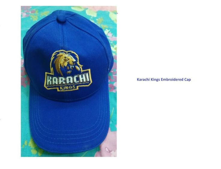 Psl2 Karachi Kings Embroidered Red Cap Pakistan Super League