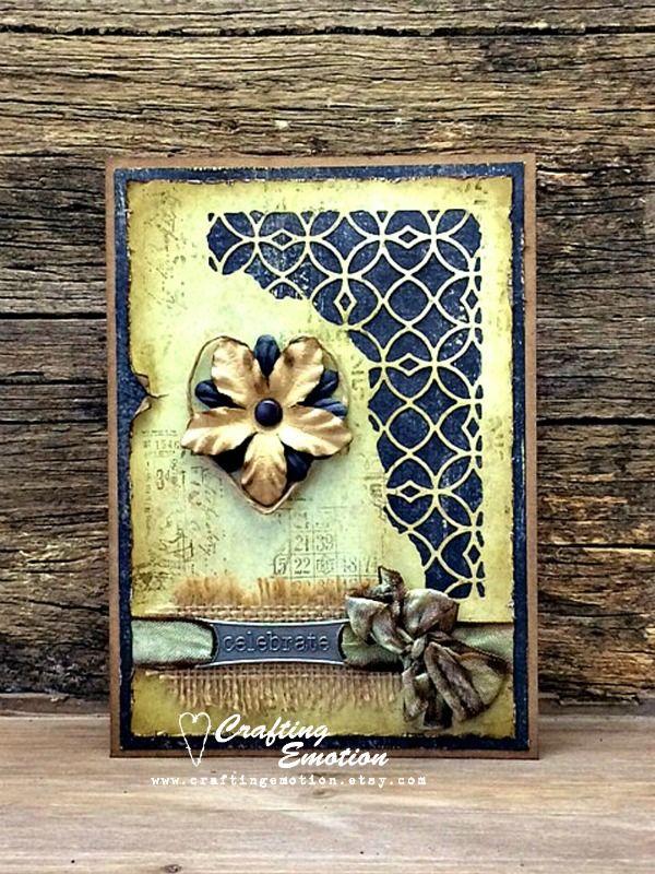 Handmade Rustic Greeting Card, Celebration Card, Birthday Card, Friendship Card, Encouragement Card, Shabby Chic Card, OOAK