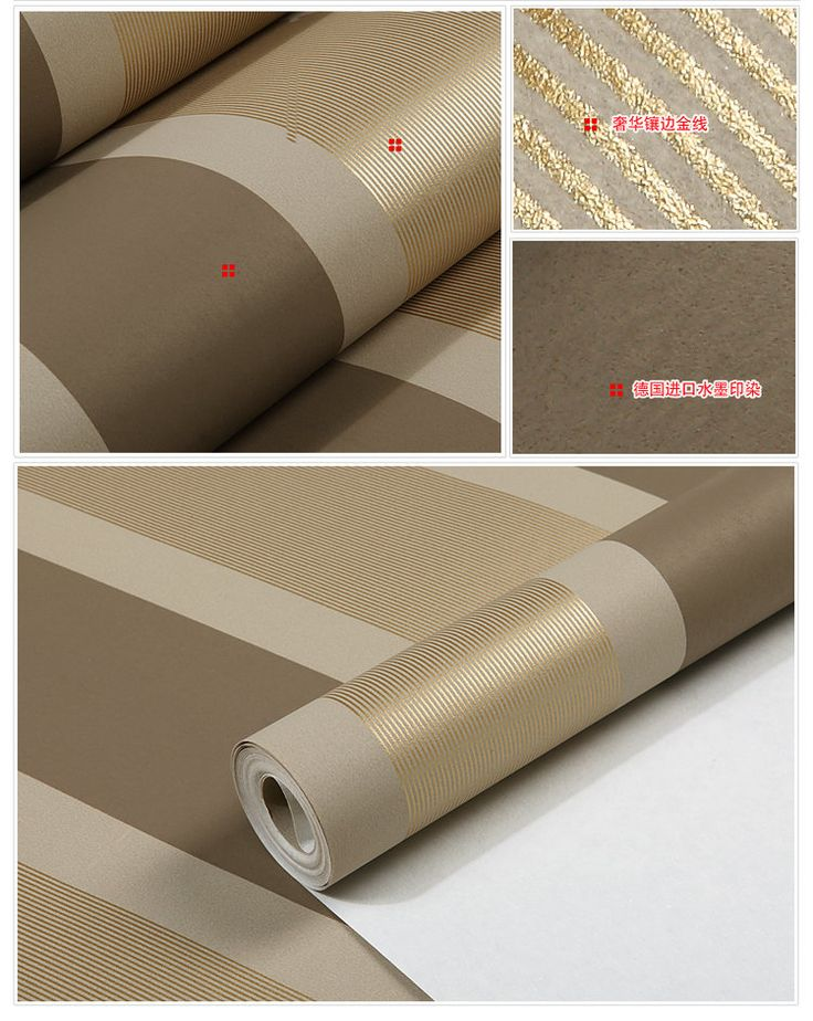 Non tessuto nero bianco argento oro glitter carta da parati a righe, parete rotolo di carta, papel de parede listrado, carta da parati tinta unita(China (Mainland))