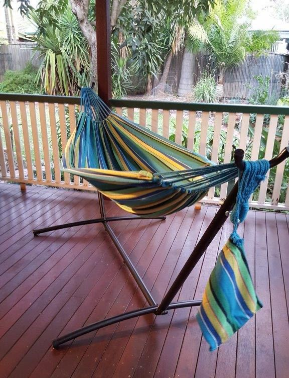The 25 best free standing hammock ideas on pinterest for Diy canvas hammock