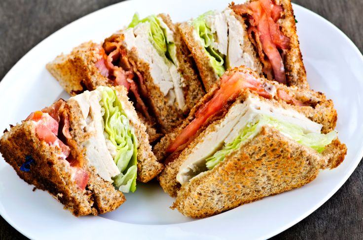 Bread & Pasta » Bread , Meat & Poultry » Turkey , Sandwiches & Panini , Restaurant-inspired We love a good club sandwich at any time of day, because it's absolutely packed with flavor and it's really filling! Plus, we think they're fun to eat! You could make a club sandwich with whatever type of meat you prefer, but our favorite is the turkey club, and with any leftover turkey you may have in the future, this is a good recipe to keep in mind. So, to our delicious turkey, we like some good…