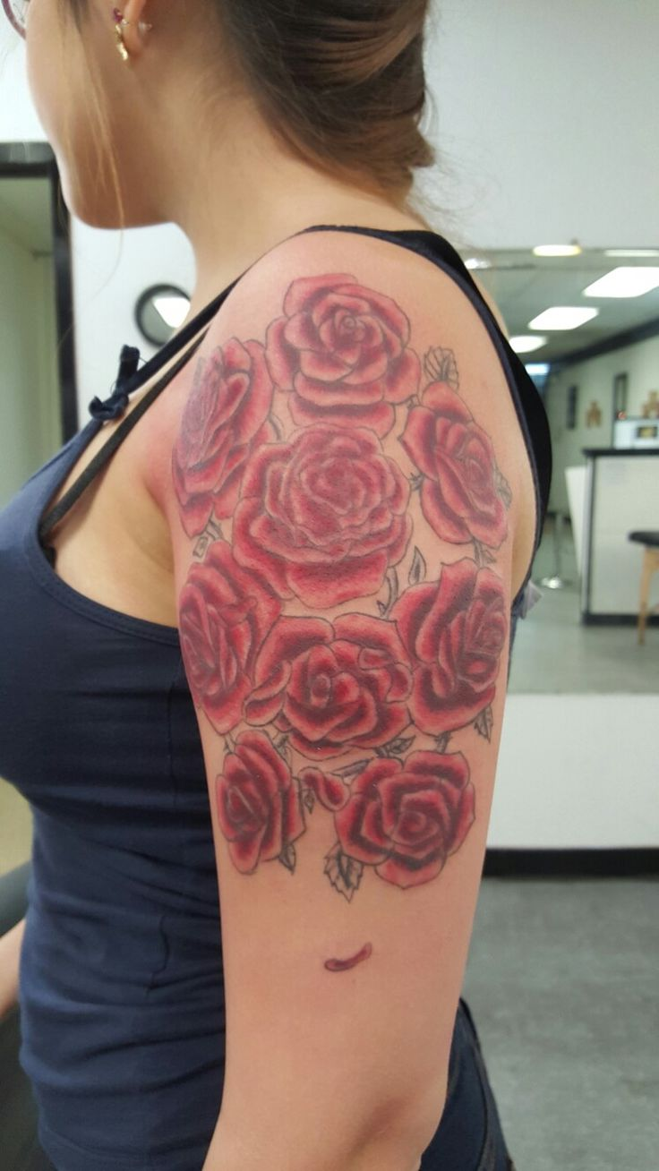 Pin lovi poe for tattoo pictures to pin on pinterest on pinterest - Rose Arm Tattoo