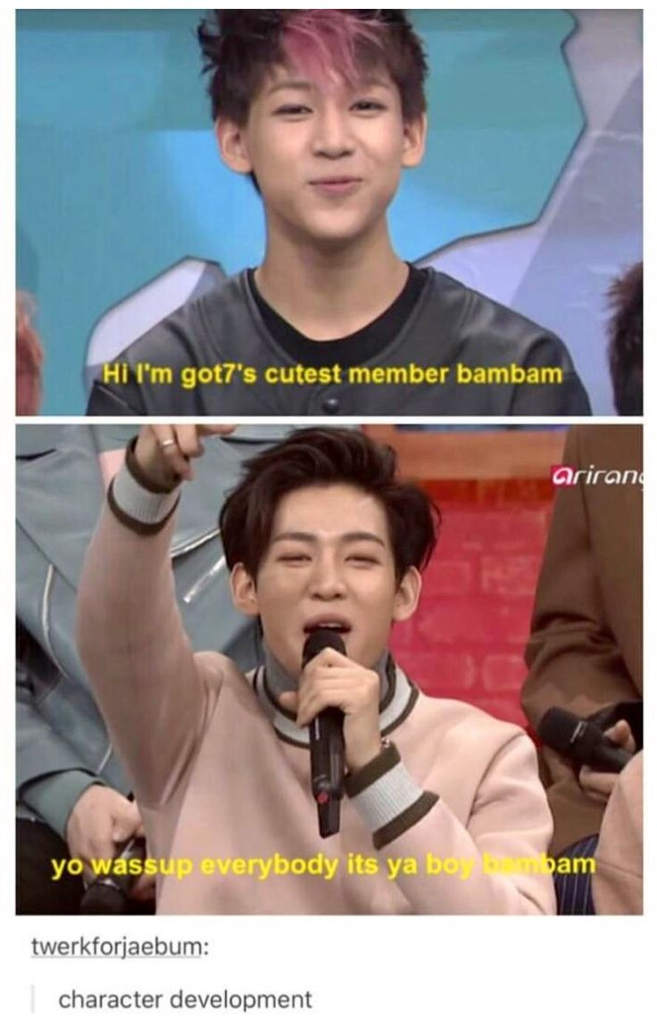 Bambam is not a fetus anymore~said no one ever #bambam #funny << I have a hard time believing he was ever 'innocent'... He seems a little  to me... Which is insanely hot...