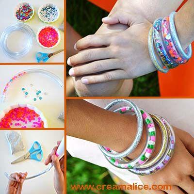 diy-bracelet-tube-perles-paillettes