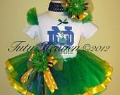 NOTRE DAME Cheerleader Football Tutu Set www.tutuheaven.com