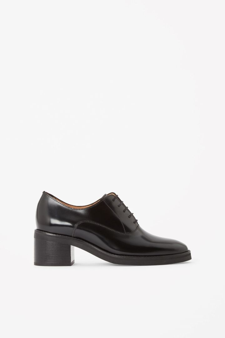 COS image 1 of Heeled lace-up shoes in Black