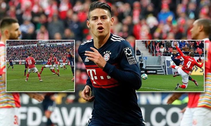 Bayern Munich extend their lead at the top of the Bundesliga to 18 points as Franck Ribery and James Rodriguez score ...: * Bayern Munich…