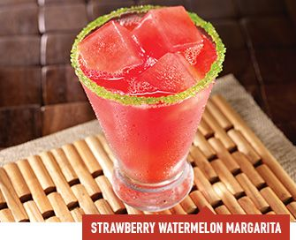 strawberry watermelon margarita at Dave and Buster's