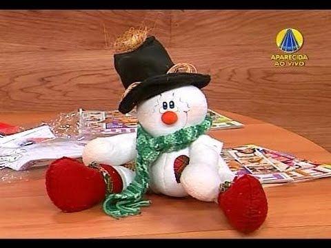Papai Noel em feltro - YouTube