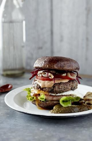 Pete Evans paleo burger/aoli