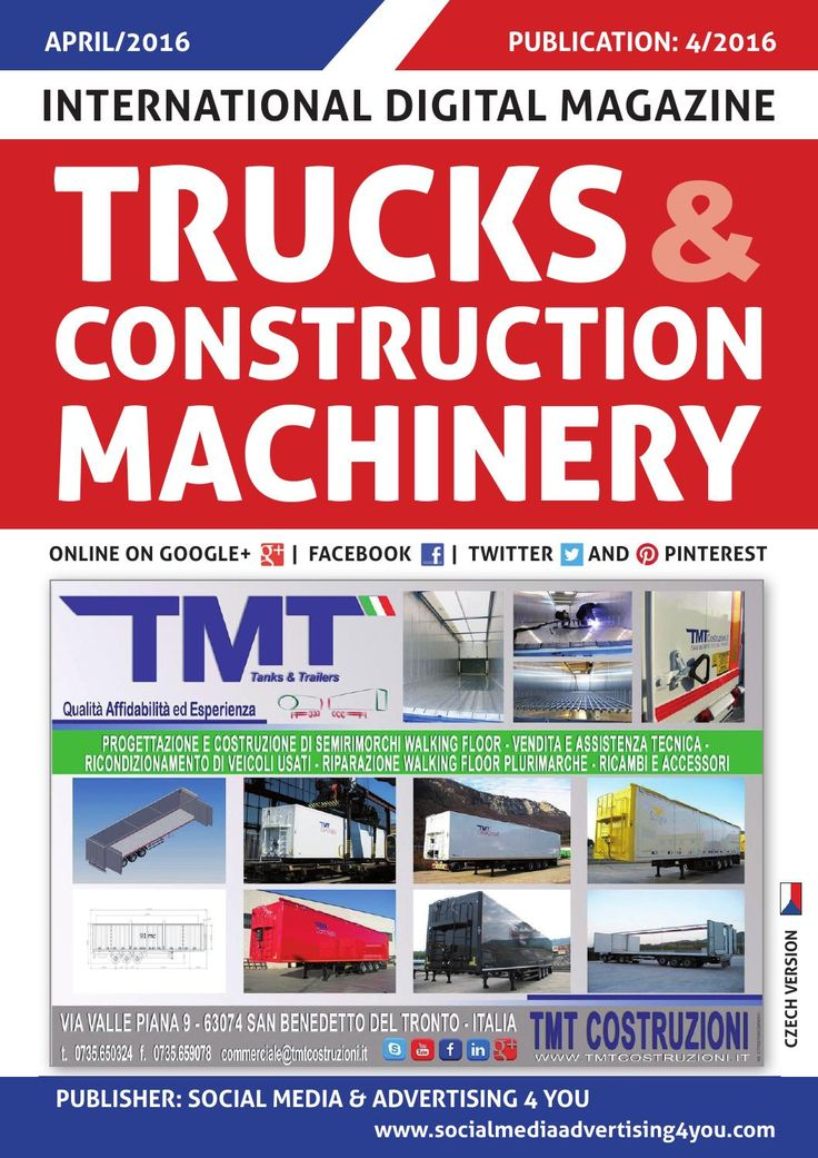 TRUCKS & CONSTRUCTION MACHINERY - April 2016