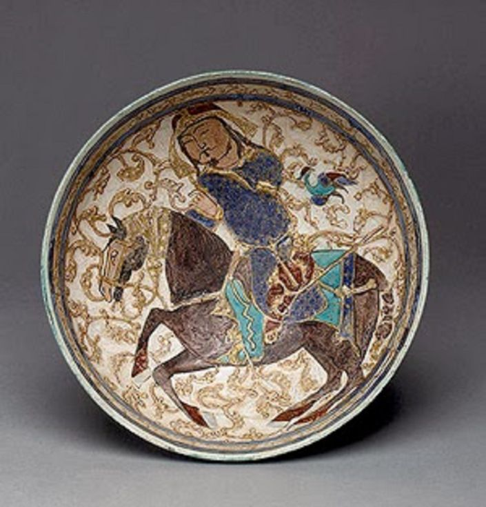 Art of the 13th century with 12 or Turkish Seljuk represented rider