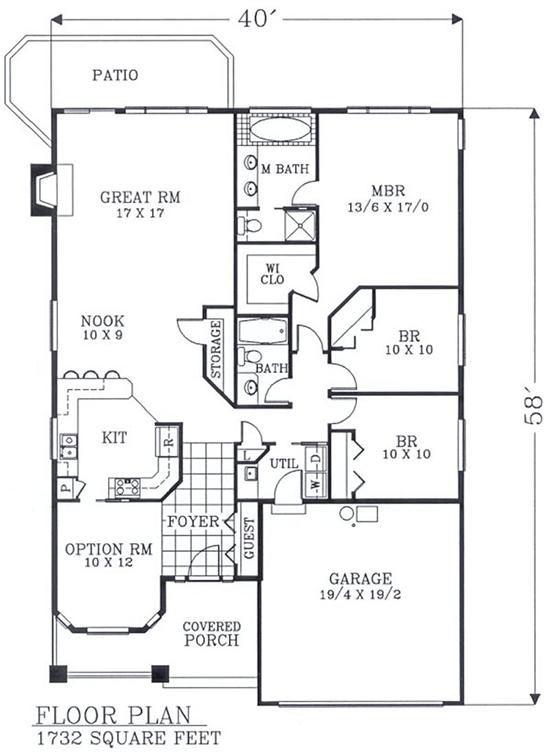 137 best Arts \ Crafts floor plans images on Pinterest Craftsman - bungalow floor plans