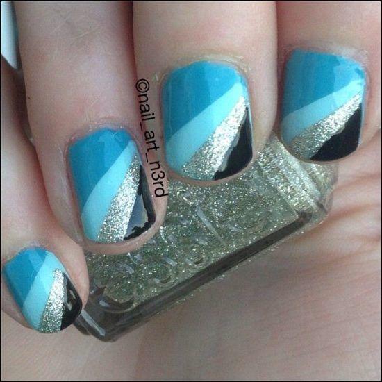 17 wunderschöne blaue Nägel Art.-Nr.