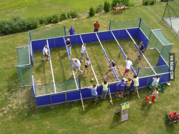 Human Foosball - play this awesome game at Moses Scout Reservation this Summer!