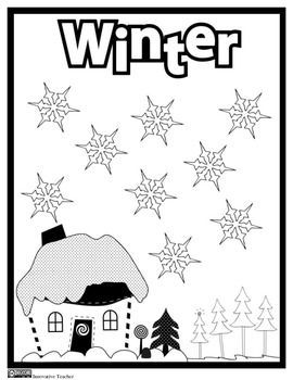 Winter Coloring Page {FREEBIE} by Innovative Teacher