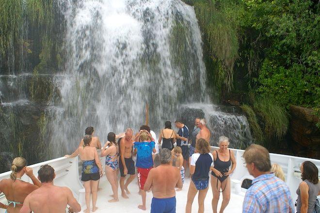 Waterfall in the Kimberley aboard True North Cruises
