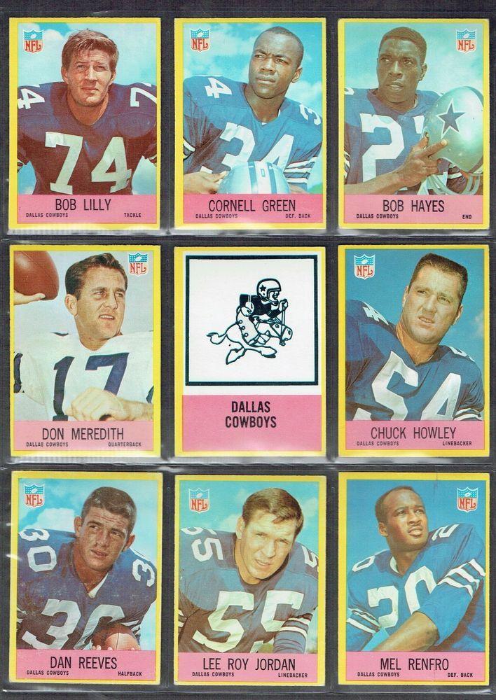 1967 DALLAS COWBOYS MEREDITH, HAYES, REEVES RC, LILLY 4/HOF's EX+ #67ORIGPHILADELPHIACARDS #DALLASCOWBOYS